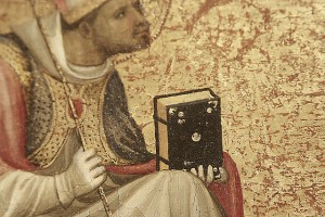 Detail from A Bishop Saint and St. Lawrence (1404-1407) by Starnina, photo by Karen via Flickr Creative Commons