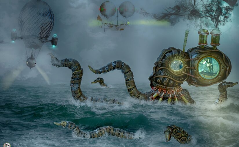 Master Ronvolio's Steam-Powered Squid – a steampunk short story